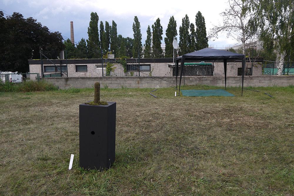 Gartenschau Sonnenhaus / Moosmann und Bühne für Gartenkonzerte